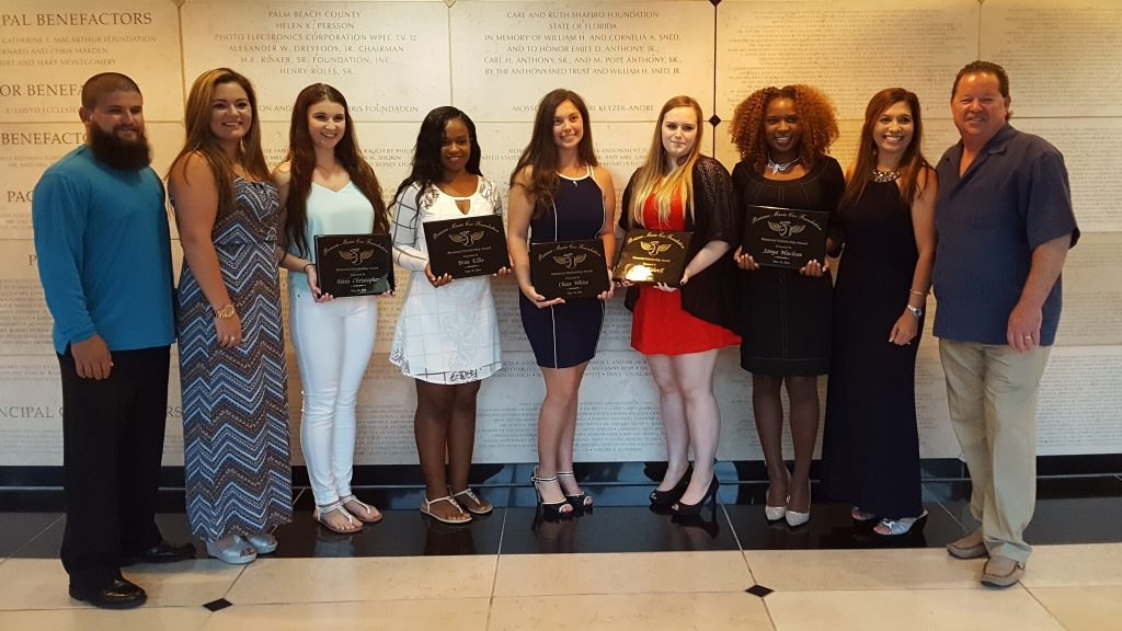 The 2016 scholarship recipients with Briana's family